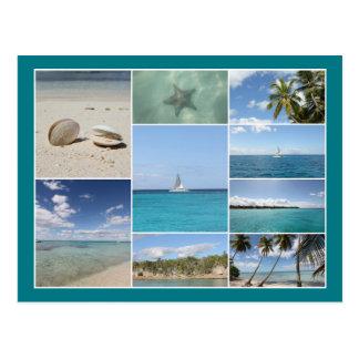 Scenic Caribbean Photo Collage Postcard