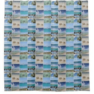 Scenic Caribbean Photo Collage Shower Curtain