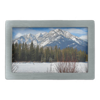 Scenic Cascade Mountain - Banff Alberta Belt Buckle