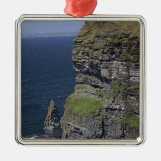 Scenic Cliffs of Moher and O'Brien's Tower Metal Ornament
