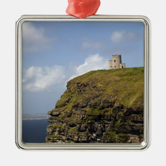 Scenic Cliffs of Moher and O'Brien's Tower. Metal Ornament