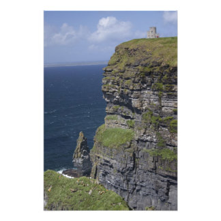 Scenic Cliffs of Moher and O'Brien's Tower Photo Print