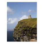 Scenic Cliffs of Moher and O'Brien's Tower. Post Card