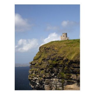 Scenic Cliffs of Moher and O'Brien's Tower. Postcard