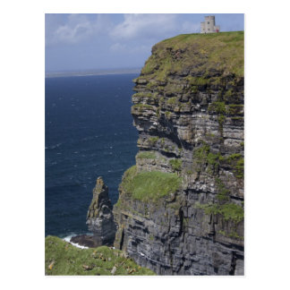 Scenic Cliffs of Moher and O'Brien's Tower Postcard