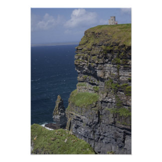 Scenic Cliffs of Moher and O'Brien's Tower Poster