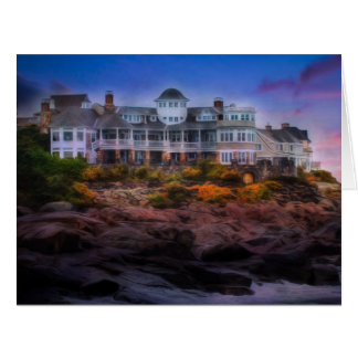 Scenic Coastal Sunrise Cape Neddick Maine Card