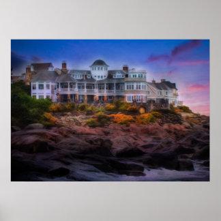 Scenic Coastal Sunrise Cape Neddick Maine Poster