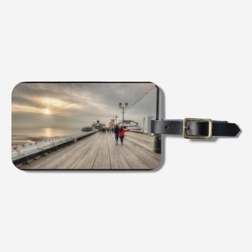 Beach Themed Scenic Coastal View Blackpool Pier UK Bag Tag