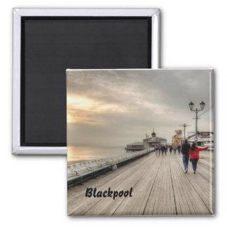 Scenic Coastal View Blackpool Pier UK Magnet