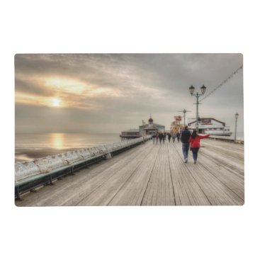 Scenic Coastal View Blackpool Pier UK Placemat