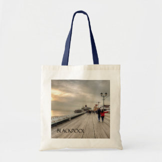 Scenic Coastal View Blackpool Pier UK Tote Bag