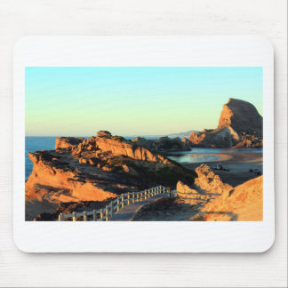 Scenic coastal walkway mouse pad