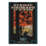 Scenic Colorado & Utah Travel Poster