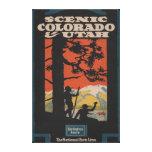 Scenic Colorado & Utah Travel Poster Gallery Wrap Canvas