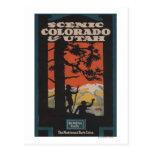Scenic Colorado & Utah Travel Poster Postcard