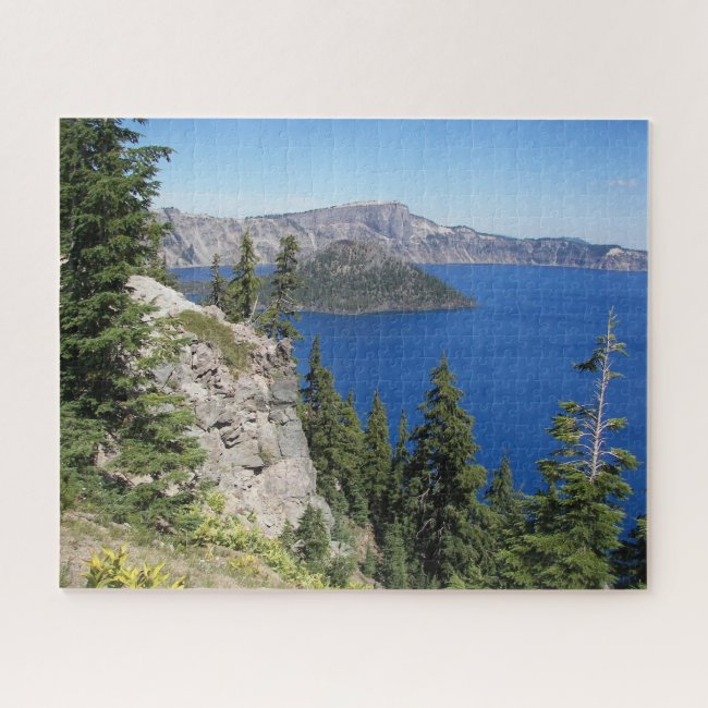 Scenic Crater Lake National Park Photo Jigsaw Puzzle