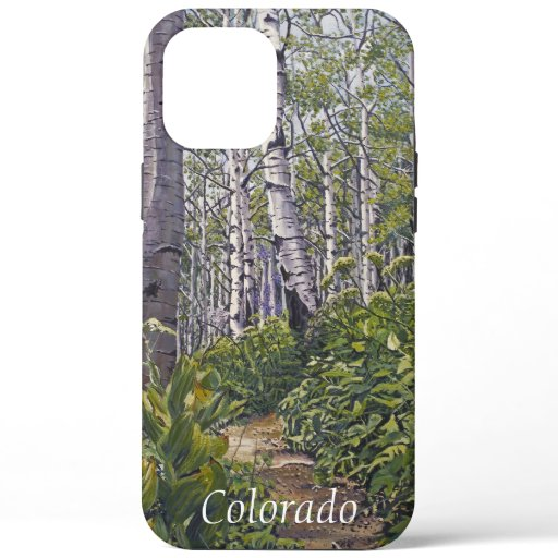 Scenic Crested Butte Colorado Spring Aspen Trees  iPhone 12 Pro Max Case