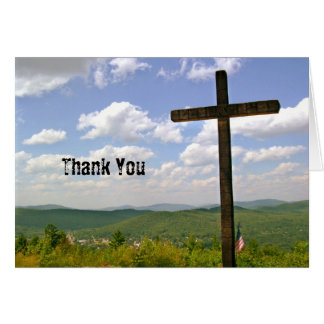 Scenic Cross on a Hill Pastor Appreciation Stationery Note Card