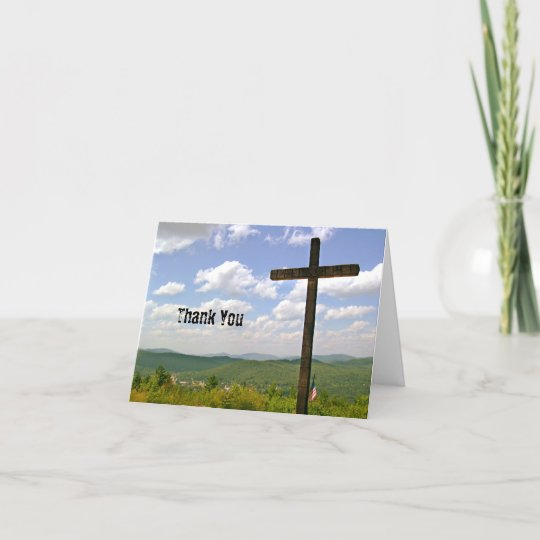Scenic Cross On A Hill Pastor Appreciation Thank You Card Zazzle Com