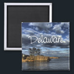 """Scenic Delaware USA State Souvenir Fridge Magnet<br><div class=""""desc"""">Tip: dated magnets are a fun way to keep a chronology of your travels and Zazzle makes it easy to add a date.</div>"""