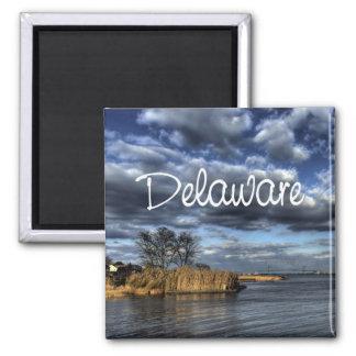 Scenic Delaware USA State Souvenir Fridge Magnet