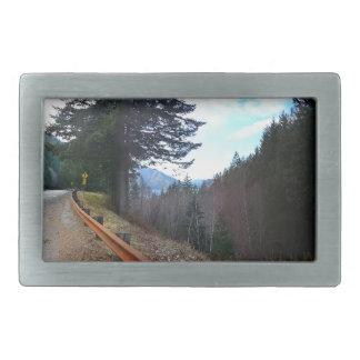 Scenic Drive Rt 101 Olympic National Park Rectangular Belt Buckle