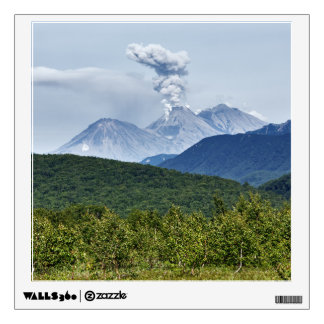 Scenic erupting of Zhupanovsky Volcano. Russia Wall Decal