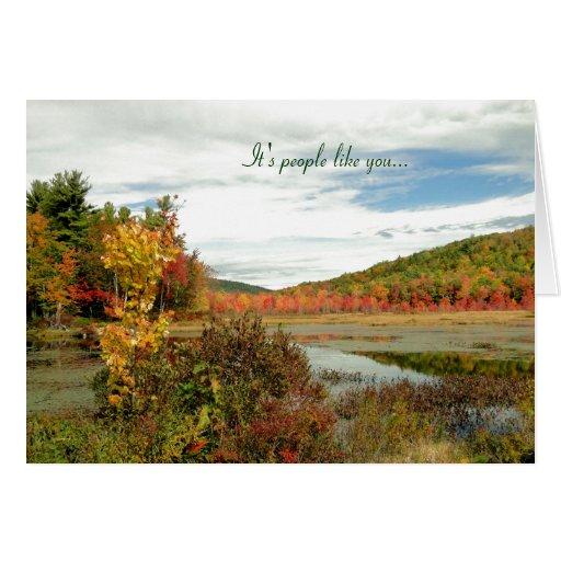 Scenic Fall Custom Volunteer Appreciation Card