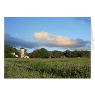 Scenic Farm, Blank Note Card