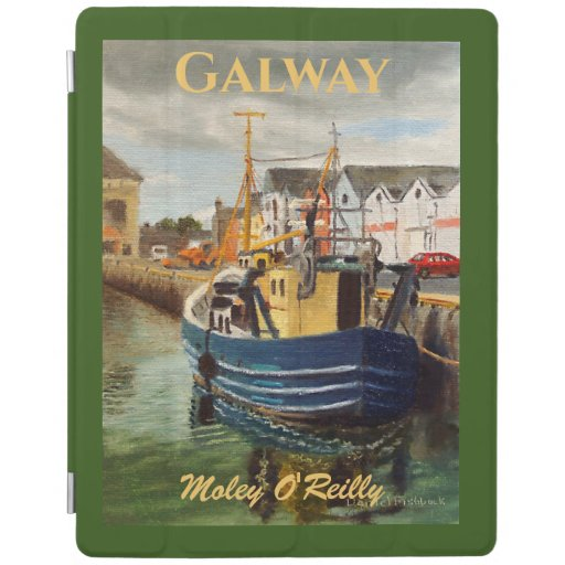 Scenic Galway City Ireland Fishing Boat iPad Smart Cover