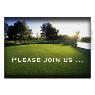 Scenic Golf Outing Folded Card Invitations