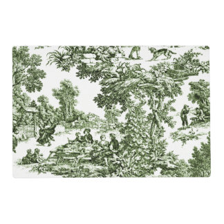 Scenic Green Toile Placemat