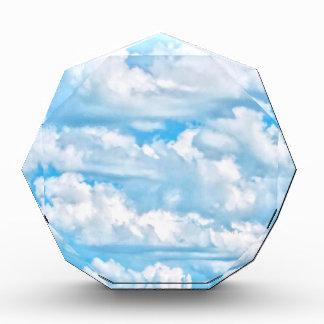 Scenic Happy Sunny Clouds Background Acrylic Award