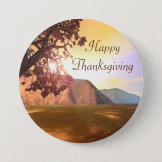 Scenic Happy Thanksgiving Button
