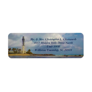 Scenic Hillsboro Inlet Light Personalized Label