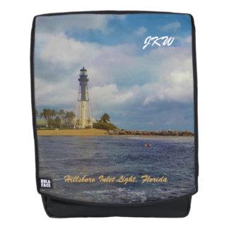 Scenic Hillsboro Inlet Lighthouse Monogrammed Backpack