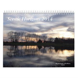Scenic Horizons 2014 Wall Calendar