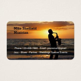 Scenic Jazz Musician Business Card