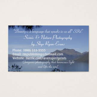 """SCENIC LAKE"" Business Cards"