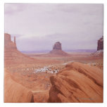 Scenic Landscape with Buttes Ceramic Tile