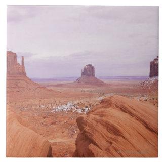 Scenic Landscape with Buttes Ceramic Tile