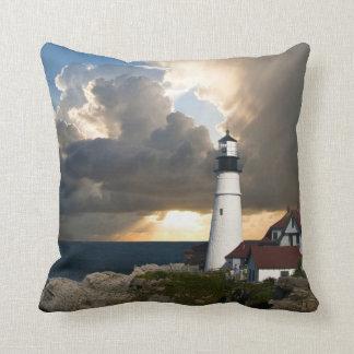 Scenic Lighthouse Beacon Throw Pillow