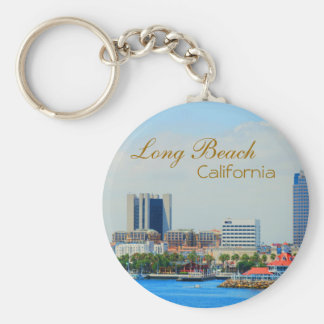 Scenic Long Beach Skyline Keychain