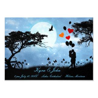 Scenic love under the moon wedding card