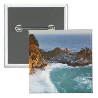 Scenic McWay Falls tumbles into the beach and 2 2 Inch Square Button