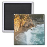 Scenic McWay Falls tumbles into the beach and 2 Inch Square Magnet