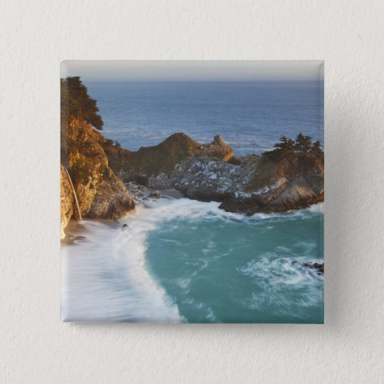 Scenic McWay Falls tumbles into the beach and 2 Pinback Button
