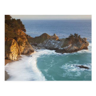 Scenic McWay Falls tumbles into the beach and 2 Postcard