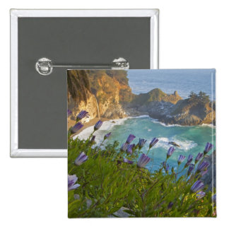 Scenic McWay Falls tumbles into the beach and 2 Inch Square Button